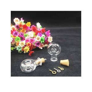 20pcs Tiny Wishing Glass Bottle Xo Shape Round Vial Jar With Cork Stopper Making Pendant Container Mini Diy E bbyKfs