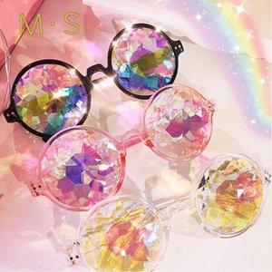 MS 2020 Kadınlar Fantezi Güneş Gözlüğü Dekorasyon Klasik Gözlük Kadın Güneş Gözlüğü Kaleidoskop Glassesun Gözlük Moda UV400