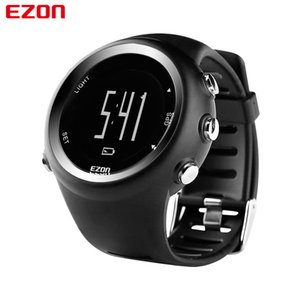 Ezon T031 Mens GPS Sports Watches 50m à prova d 'água Distância Pace Calorie Contador GPS Timing Multifuncional Digital Wrist Relógios 201124