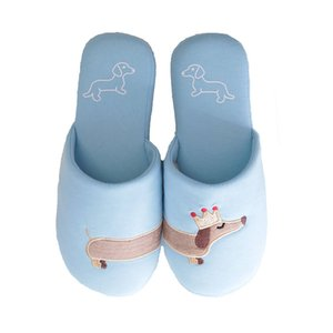 Millffy Women's unicorn house slipper Dachshund dog cotton bedroom indoor slippers Q1125