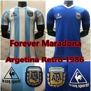 NCAA 1978 1986 Argentina Maradona retro soccer jerseys 86 78 maradona Football Shirt argentina maillot de foot men + kids set camisetas de f
