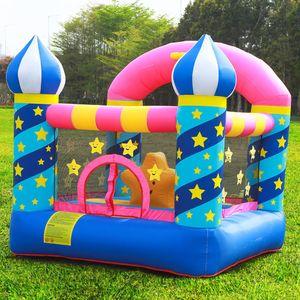 Familia Bouncy Castle Inflatable Star Inflatable Star Bouncer Casa de rebote para la fiesta de cumpleaños con el blower de Air Star House Castle regalos para el niño