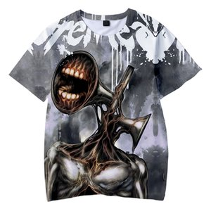 Siren Head 3D Print T-Shirt SCP Horror Game Streetwear Men Women Fashion T Shirt Hip Hop Children Kids Tees Tops Boy Girl Tshirt Q1126