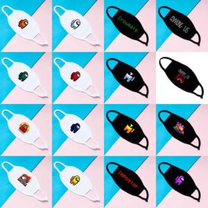 Adulto nuevo entre los juegos de EE.UU. Designer Face Mask Impreso Patrones de dibujos animados Ceremate Cara Mascarilla Cubierta de boca Máscara protectora GWD3823