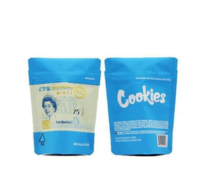 Mylar Bag Flower Plastic Proof Deckaging Cookies Bangies SF Blue odore Dry 3.5g 8th Regalo Mylar Editables Borse Herb California Zipper 42 WMTBU