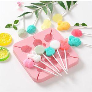 DIY Lollipop Moule Cerise Papillon de Cerise Panda Panda Paw Square Square Enfants Moulins de Bonbons Chocolats Moules Fit Outils de cuisson 4 8YXA E1