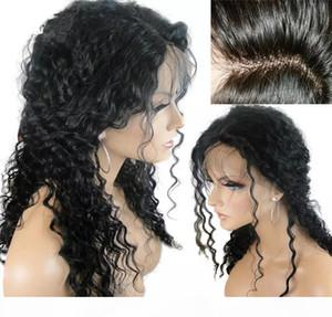Virgin Hair Silk Top Full Lace Pelucas Human Cabello Barato Rizado Sin Golpeo Peruano Base de Seda Peruana Falleja Humano Peluca rizada para mujeres negras