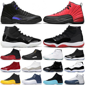 AJ aj Retro baloncesto del Mens Jumpman 12s oscuro Concord 12 Gripe inversa Juego de Oro 11s 25 Aniversario 11 Bred deportes de las mujeres zapatillas de deporte
