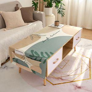 Waterproof Cotton Linen Table Dustproof Cover Cloth Hotel Desk Mat Rectangle Table Cloth Chair Set