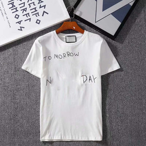 Le lettere di magliette da uomo stampate con tee a strisce Estate traspirante T-shirt per uomo e donne maniche corte