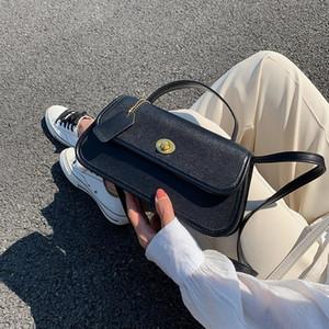 OLSITTI Achsel Taschen Frauen-Französisch Baguette Einzel-Schulter-Beutel-Qualitäts-Mental Buckle Abdeckung Weibliche Taschen