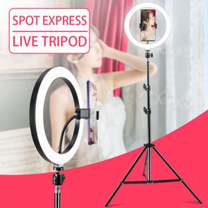 Amazon 8Inch 10.2inch Halo Table USB Beauté Vidéo Studio Studio Studio Lampe Dimmable Selfie LED Bague Éclairage photographique 10 pouces beauté beauté