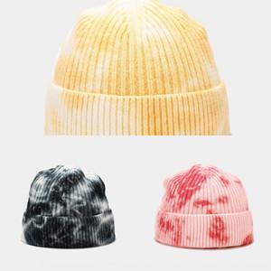 1bge4 nouveau cravate teint femme tendance tendance laine melon melon peau hommes automne chaud shorty tricoté chapeau chapeau de pois