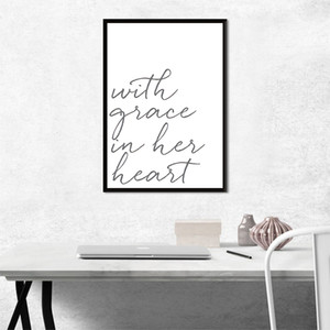 Fashion Calligraphy Art Poster and Prints Canvas Painting on Wall Art Modern Picture for Home Room Decoration