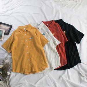 Summer Blouse Women Kawaii Weather Embroidery Ladies Sweet Striped Tops Shirt Korean Loose Blusas Mujer De Moda 2019