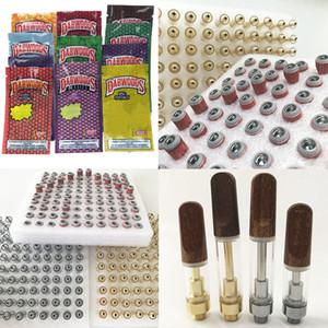 Wood Drip Tip Carts Dabwoods Vape Cartridges Packaging 1ml Ceramic Empty Oil Cartridge Dab Pen Wax Vaporizer 510 Thread Battery E Cigarette