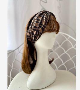 Women 100% SILK Elastic Turban Head Scarf Headband GOOD Quality Designer letter Headbands Hair Bands Headwraps Christmas Gifts