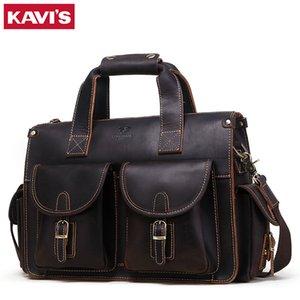 Известный бренд ретро темный кофе туристические сумки большие сумасшедшие лошадь натуральная кожа мужские сумки бизнес на плечо мужчины для офиса