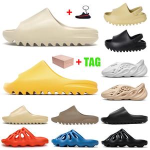 yeezy slides Kanye west chinelos Espuma Runner tamanco sandália mulheres mens designer slides sandálias sliders plataforma casa chinelo ao ar livre