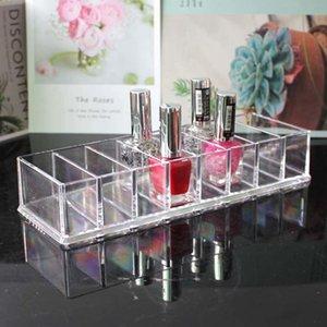 New Acrylic 8-bit Lipstick Rack Desktop Storage Box Transparent Eye Shadow Make-up Cosmetic Case Capacity Organizer