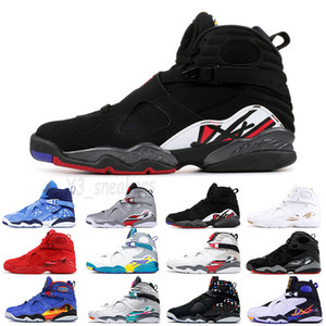 2021 Jumpman DobernBecher 8 8s Ovo Beyaz Siyah Saten Retro Erkek Basketbol Ayakkabı Sevgililer Günü Krom Erkek Eğitmenler Sneakers 40-47
