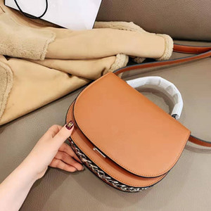 Shoulder Fashion Lock Semicircle On The Saddle Flip Bag Handbag Luxury Small Leather One Joker Chain Handbag Lady New His Portable Ufcik