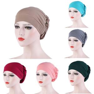Мусульманская базовая шляпа Multi Color Hijab Мягкие шапочки скрученные плиссированные мужчины Женщины Голова Wrap Turban Fashion 5 3ER P2