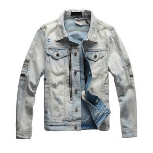Veste en denim pour hommes Mode Jeans Vestes Vestes Vestes Demin Casual Streetwear Vintage Mens Jean Hop Hop Vêtements M-4XL Top Qualité