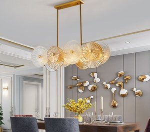 Nordic living room dining room bedroom tea room personality glass lamps Postmodern light  simple chandelier beauty lamp
