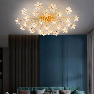 New Bedroom Ceiling Light Modern led Crystal Ceiling Lamp Simple Living Room Dining Room Decoration Crystal Light led Dandelion Chandeliers