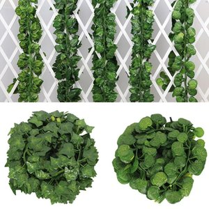 200cm Artificial Plants Artificial Grape Parthenocissus Leaves Indoor Outdoor Wall Decor Hanging ornament Home Decorations