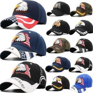 Palla tappi americani bandiera americana usa calvo aquila patriotic berretto da baseball regolabile ricamato