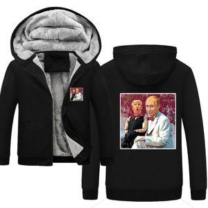 Putin Winter Men's Lymed Warm Whom Wholk Parka Velvet Windproof Coats Moletons Zipper Homens Hoodie Jacket