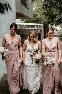 Elegant V-neck Bridesmaid Dresses Long Prom Dress Maid of Honor Dress for Wedding Party Custom Made