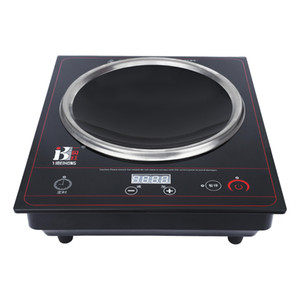Cookware touch type 3000KW concave black crystal panel commercial battery stove