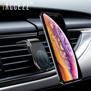 !ACCEZZ Magnetic Car Phone Holder L Shape Air Vent Clip in Car Magnet Universal Mobile Phone For XS Huawei Bracket Stand