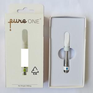 Pureone Vape Kartuşları 0.8ml 510 Konu Boş Vape Kalem Kartuşu Press-in Saf Bir Arabalar Köpük Ambalaj Plastik Ağızlık