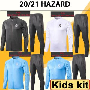 20 21 위험 재킷 키트 키트 축구 유니폼 새로운 Sergiio Ramos 벤제마 Casemiro Tracksuit 자식 양복 훈련 축구 셔츠 탑
