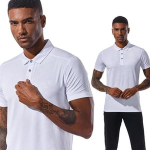 New Style Men Solid Color Outdoor Breathable Fold-Down Collar Work Clothes Women'S Qui-Dry Casual Short-Sleeved