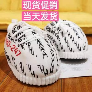 Big Size Spoof Домашнее тапочки Женщины и мужчины Вернуться к будущему хлебу плюшевые жиры зимние хлопчатобумажные туфли