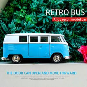 1:36 مقياس فولكس واجن T1 حافلة دييكاست لعبة المركبات محاكاة معدنية التراجع الطفل بوي سبيكة نموذج سيارة ديكور اللعب للأطفال هدايا Z1202