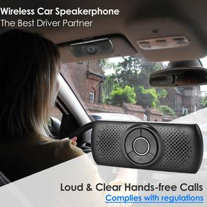Kablosuz Bluetooth Araç Kiti Seti Handsfree Hoparlör Telefon Akıllı Telefonlar için MultiPoint Sun Visor Hoparlör Araba Bluetooth