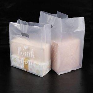 Merci Plastic Plastic Sac de cadeau Stockage Sac shopping avec poignée Party Mariage Plastique Candy Gâteau Sacs d'emballage OWD3223
