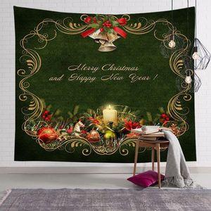 Christmas decoration tapestry home bedroom wall hanging cartoon Santa Claus print tablecloth yoga mat beach towel party backdrop OWA1669