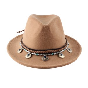 Fedora Hat For Women Men Wide Brim Wool Jazz Godfather Sombrero Caps 56-58CM 2020 new design