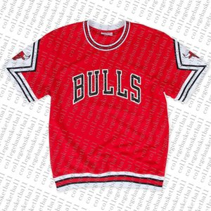 Cheap Custom Mitchell & Ness 1987-88 Road Shooting Shirt - Red Mens stitched Summer Tee Retro basketball jersey