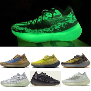 PK Sürüm 380 Kalsit Glow Ayakkabı Kadın Erkek Tasarımcı Sneaker Oniks Olmayan Yansıtıcı Koşu Ayakkabı Alien Mavi Hylte Glow Lmnte Biber Ayakkabı