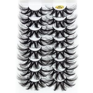 8 Pairs 25mm 4D Mink False Eyelashes Thick Dramatic Wispies Fluffy Eyelash Extension Makeup Volume Handmade Faux Mink Lashes