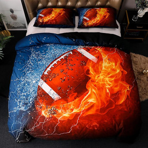 Home Textiles Basketball Football Rugby Quilt Cover Bedding set luxury Double bed 3d Printed duvet cover set for kids adult 3pcs