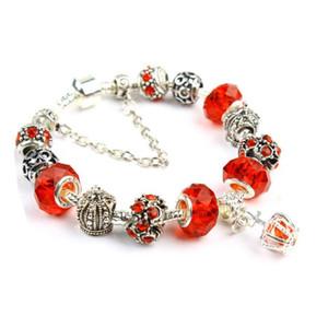factory direct luxury pandor 2021 new hot Colorful Crystal Bracelet Women Amazon Crown Beaded Bracelet Handmade Glass Bead Bracelets jewelry